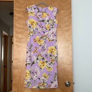 Floral Dress with Great Neckline!